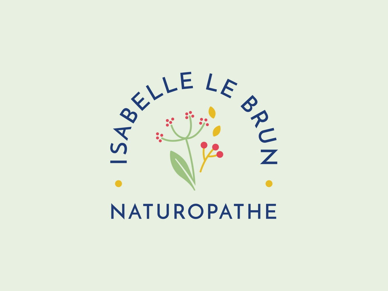Isabelle Le Brun Logo by Carole Chevalier on Dribbble