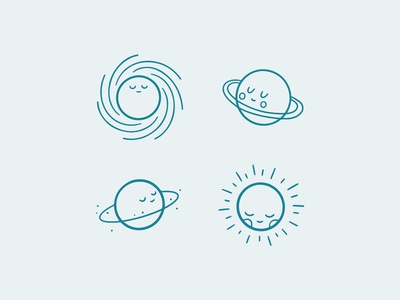 Space Is Fun - Cute Planets