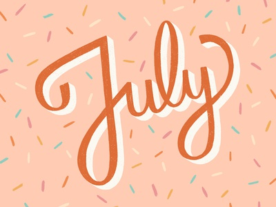 July Lettering