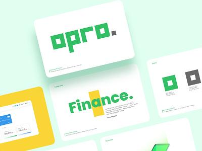 Opro - Brand Identity savings fintech app fintech finance cryptocurrency design brand identity branding