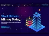 Cryptocoin landing page