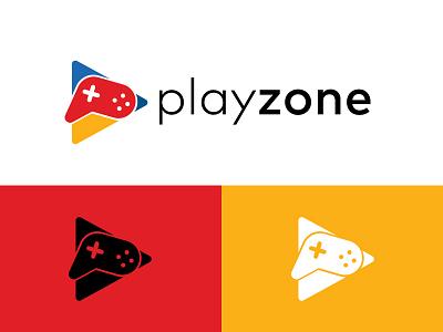 Playzone Logo brand identity logo design