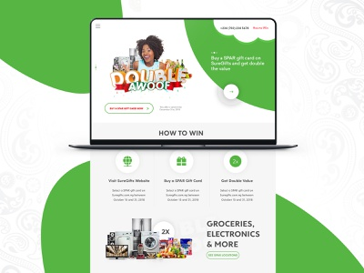 Double Awoof Dribbble ui ux landing page design web design uidesign