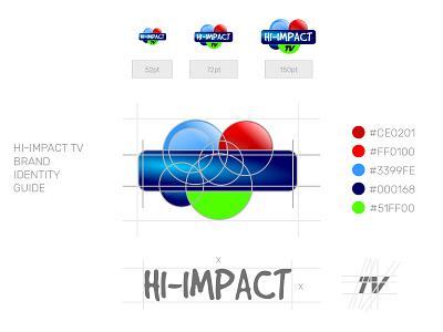 DIGITAL GUIDE: HI-IMPACT TV brand identity design branding logo