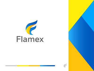 Flamex Logo branding design branding brand logo