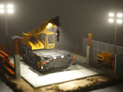A little 🏗 cgart voxelart magicavoxel voxels