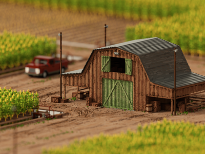 A little voxel Farm design cgart isometric voxelart voxels voxel magicavoxel