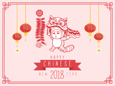 Happy CNY character celebration festival holiday mascot chinese new year cny