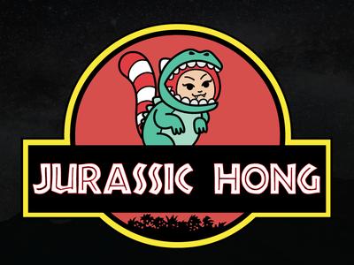 Jurassic Hong parody jurassic park movie character mascot costume dino dinosaur