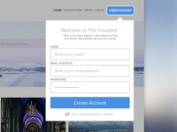 The Travelled: Login Modal