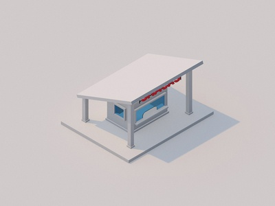 Lowpoly Snack Store