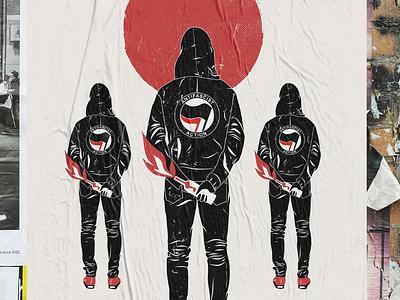 Antifascist action antifascist illustration illustrator