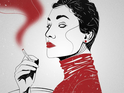 Evil woman editorial illustrator illustration