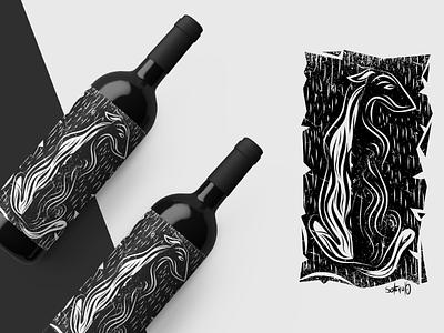 Wine illustrator label bottle wine illustration