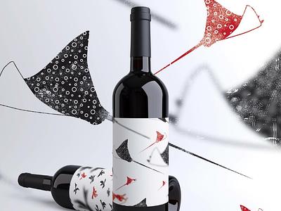 Arraias illustration label packaging vin vinhos wines wine illustrator illustrations