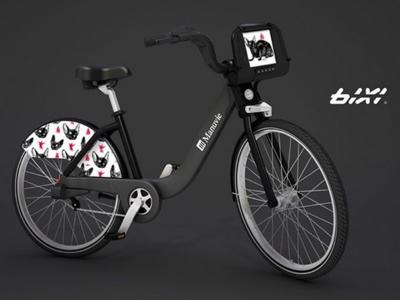 For Bixi in Montreal illustrator illustration bixi vélo bike