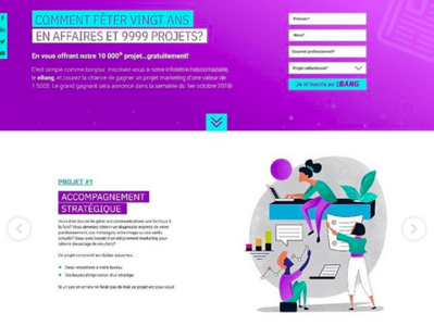 Campagne Vingt Ans ilustrador illustration illustrator adobexd page design