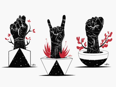 RESIST editorial hands illustration ilustrador illustrations