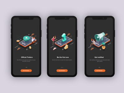 Onboarding screens for Troo
