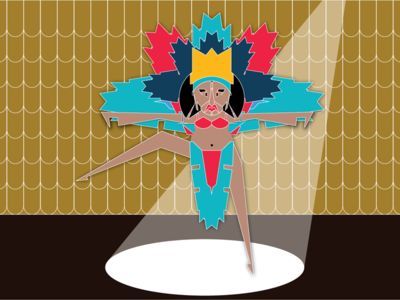 Tiny Dancer vector illustration