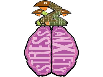 Snakes on a Brain vector illustration