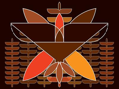 Fall Fowl vector illustration
