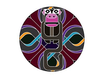 Monkey See, Monkey Do vector illustration