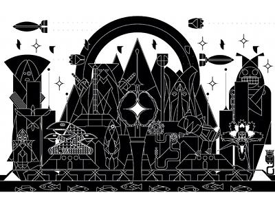 Montage Remix vector illustration