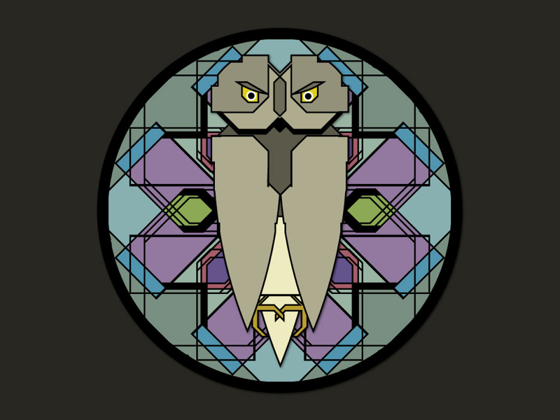 Foul Owl on the Prowl vector illustration