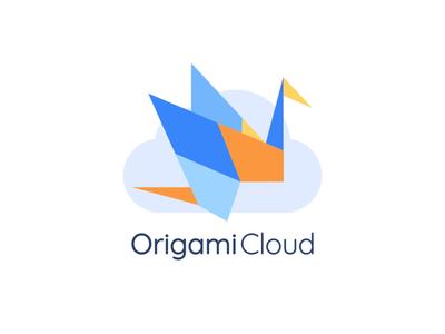 Origami Cloud Animated Logo blockchain cloud ui lottie motion design animated logo after effects logo illustration