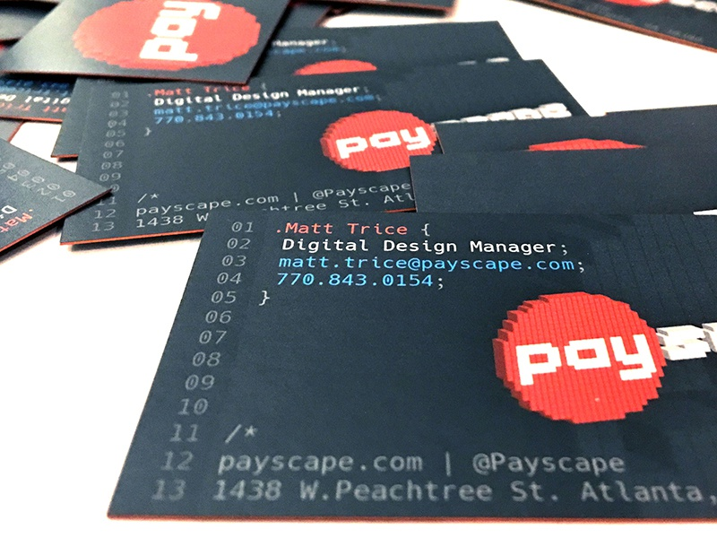 Payscape Tech Business Cards By Matt Trice Dribbble Dribbble