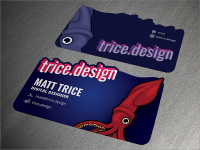 New Business Cards illustration die cut business card