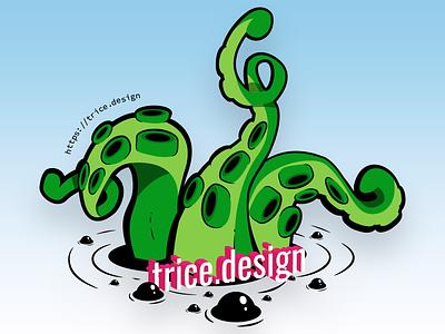 New sticker design branding design tentacles illustrator vector sticker