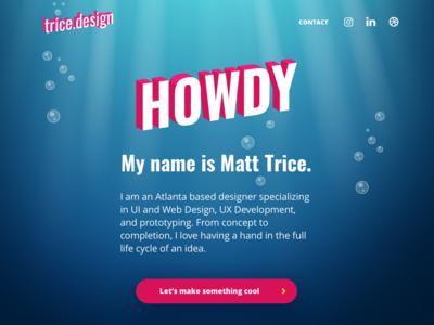 Portfolio Site Redesign front end dev front end vector design branding ui  ux gatsby sketch undersea portfolio