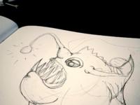Angler shottt drawing