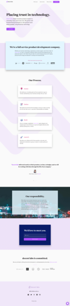 decent labs blockchain product homepage product homepage ui branding blockchain