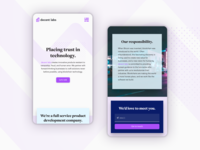 decent labs mobile homepage mobile ui product blockchain