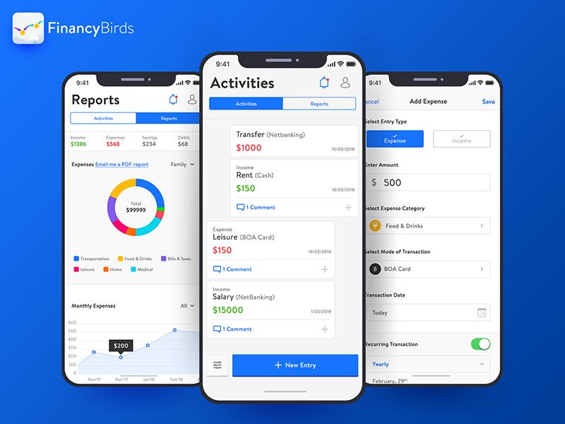FinancyBirds - Couple Expense Management App finance management couple expense management expense management finance expense