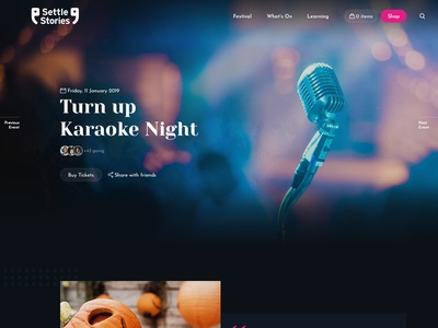 Settle Stories Homepage Redesign web minimal homepage landing page dark redesign animation ux ui