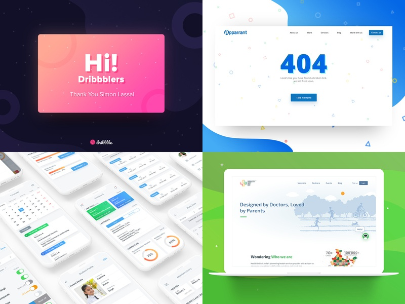 Top 4 in 2018 according to Dribbble 🤣 app typography branding vector logo interface illustration icons apparrant e-learning minimalism landing page dark minimal ios design homepage ux redesign ui