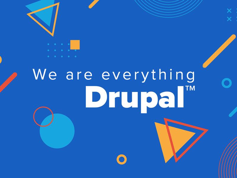 Drupal Banner linkedin cover image cover drupal typography design minimal branding vector illustration banner