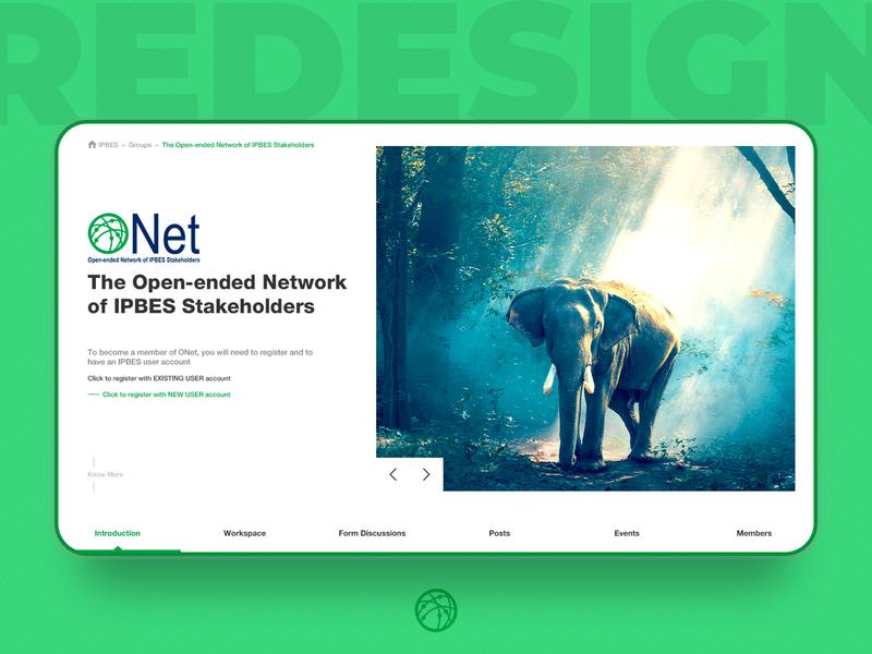 Onet Redesign white cat design minimal non-profit organization ux ui blue green white homepage redesign redesign homepage stakeholders network iucn ipbes onet