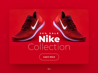 Shoes Banner design minimal banner design red sale banner sale collection nike shoe shoes typography ui banner