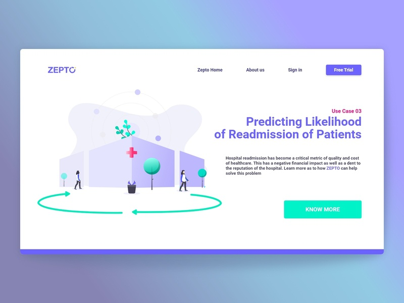 Zepto-Healthcare services Demo Landing page web design user interface uidesign user experience ui design ux ui  ux uxdesign ui design