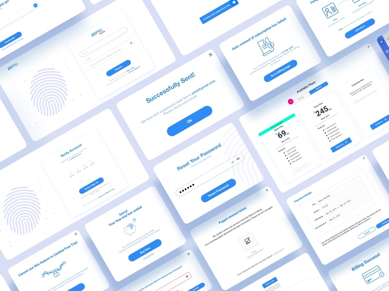 Zepto BI tool - Sign in/Sign up and Billing Process vector ux ui uxui ux design uxdesigns uxdesign ux userinterfacedesign userinterface user experience uiuxdesign uiux ui ui design uidesign ui ux minimal illustration dribbble design