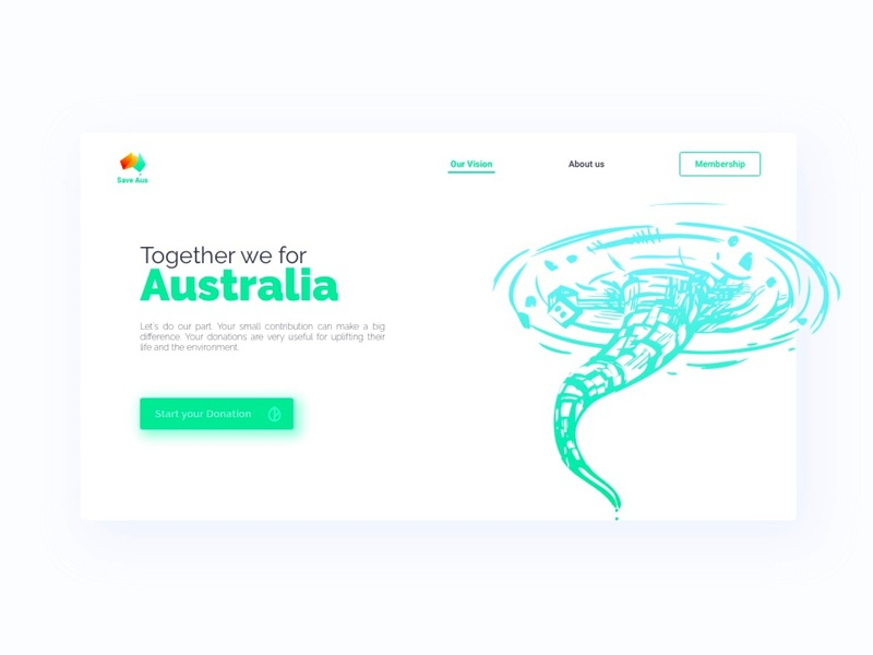 Save Aus - Donation Program web platform simple web design illustrations sketchapp sign donation vector minimal website web user experience uxdesign ux  ui ux userinterface uidesign ui  ux ui design design ui