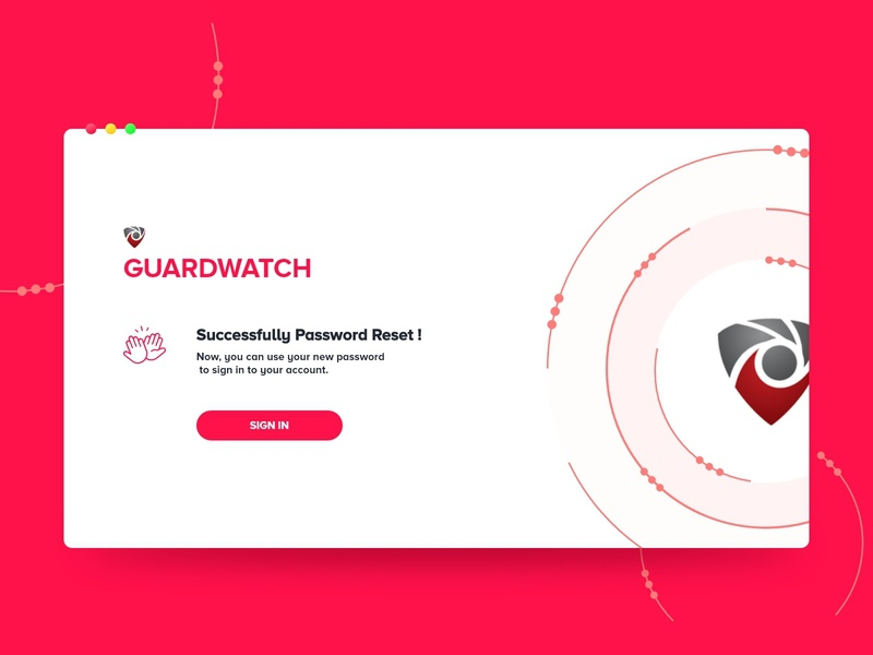 Guard watch - Sign in Process ( Password reset successful) sign in minimal user interface userinterface ui design vector illustration user experience uxdesign design uidesign ui