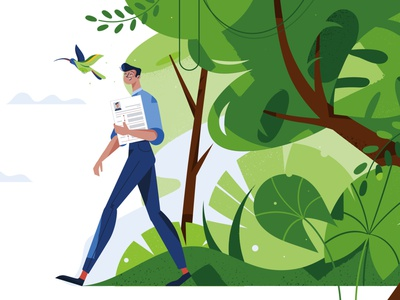 We love green environment planting tree green