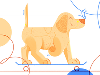 Skating doggo