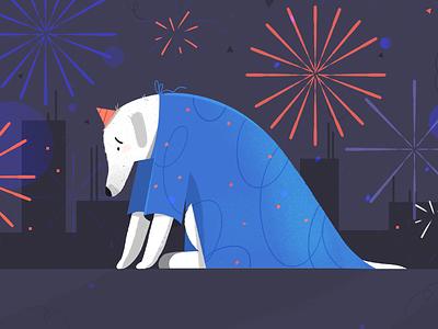 Say NO to fireworks happynewyear animal doggo